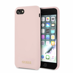 Bumper iPhone 7 Guess Silicone - Light Pink GUHCI8LSGLLP