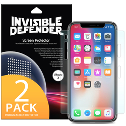 Folie Protectie FullCover iPhone X, iPhone 10 Ringke Defender(Two Pack) - Clear