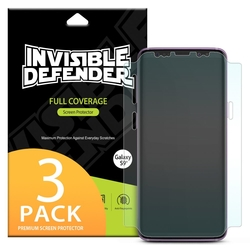 Folie Protectie FullCover Samsung Galaxy S9 Plus Ringke Defender(Three Pack) - Clear
