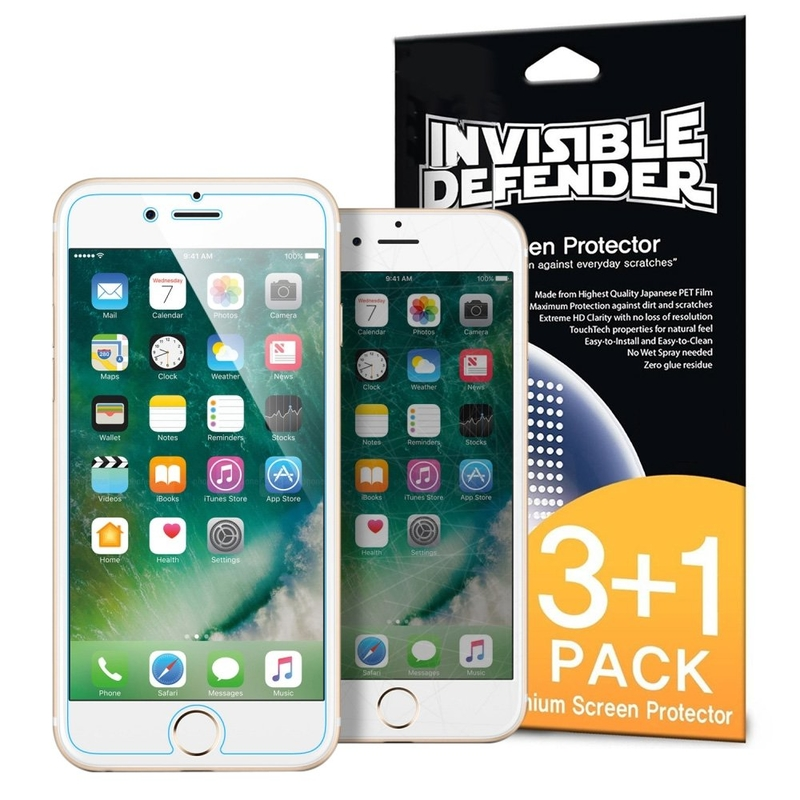 Folie Protectie iPhone 7 Ringke Defender(Four Piece Pack) - Clear