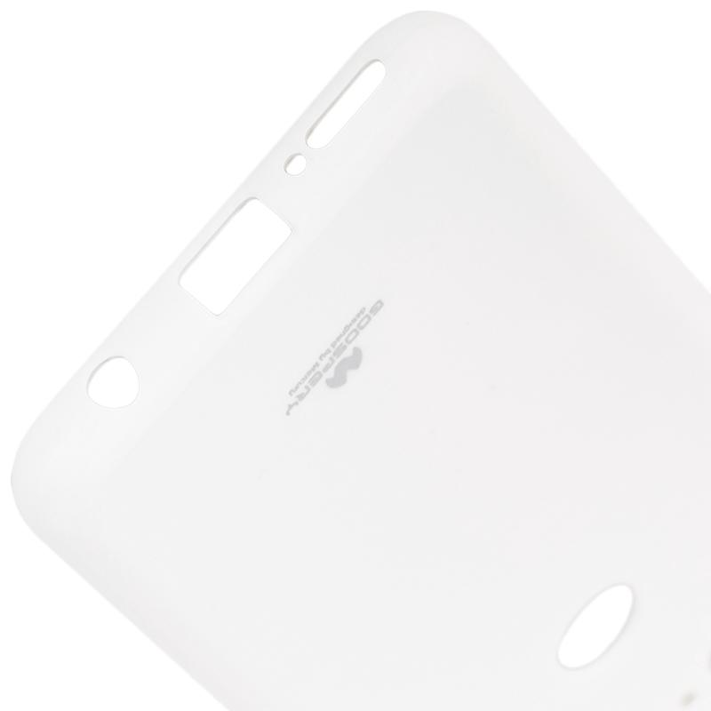 Husa Huawei Y7 Prime 2018 Goospery Jelly TPU Alb
