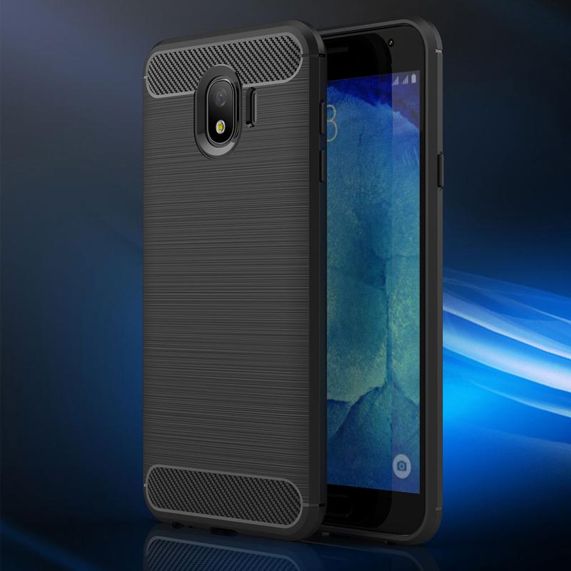 Husa Samsung Galaxy J4 2018 TPU Carbon Negru