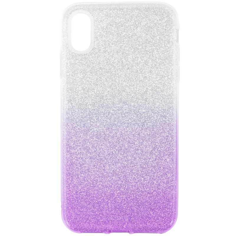 Husa iPhone XS Max Gradient Color TPU Sclipici - Mov