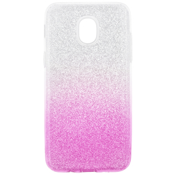 Husa Samsung Galaxy J3 2018 Gradient Color TPU Sclipici - Roz