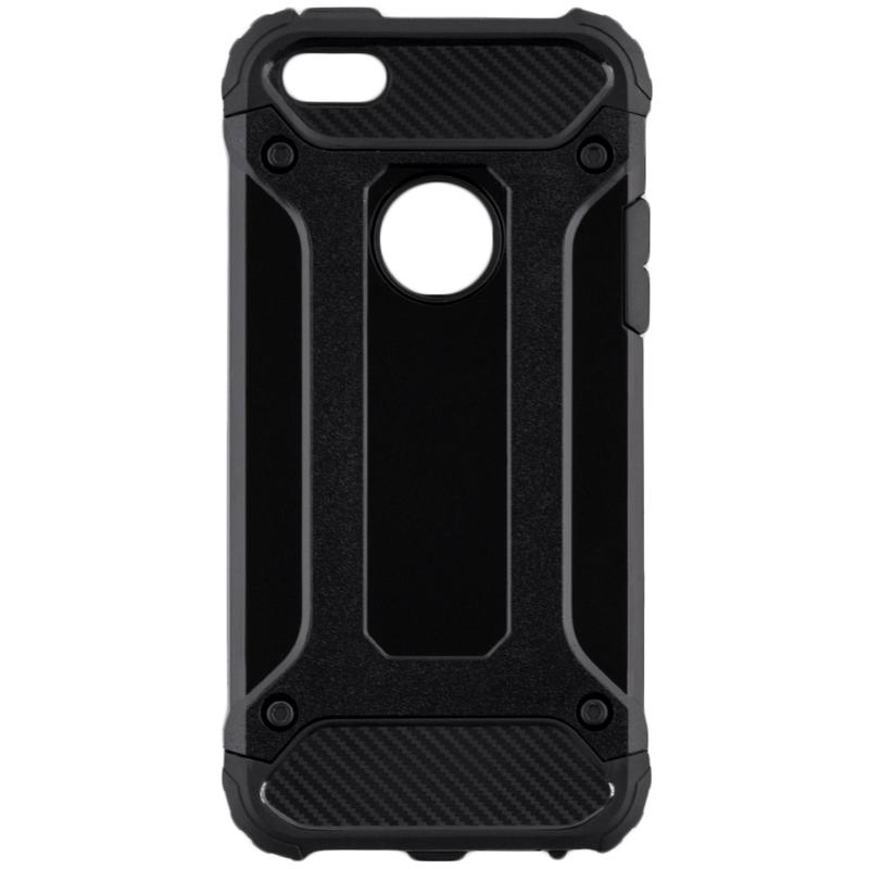 Husa iPhone SE, 5, 5S Mobster Hybrid Armor - Negru