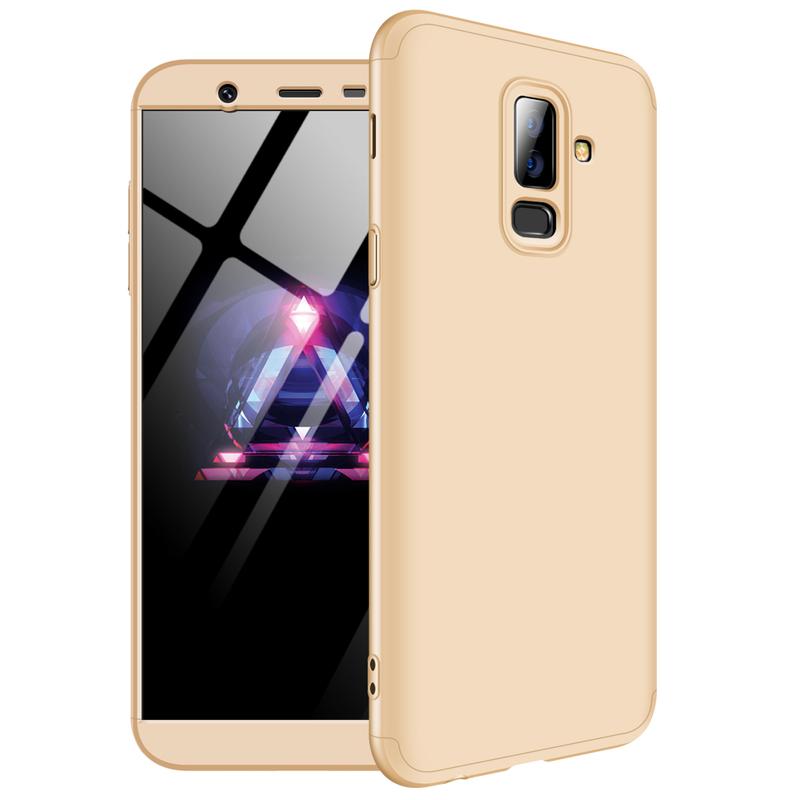 Husa Samsung Galaxy A6 Plus 2018 GKK 360 Full Cover Auriu