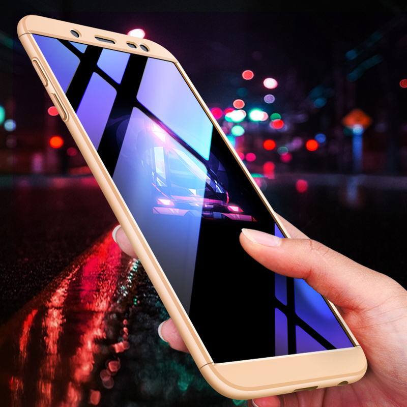 Husa Samsung Galaxy J6 2018 GKK 360 Full Cover Auriu