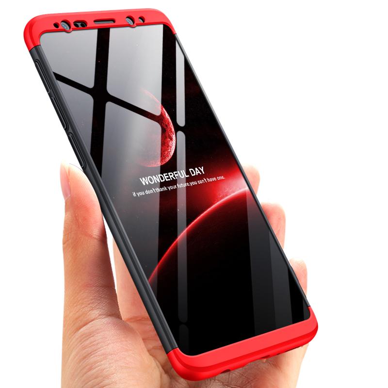 Husa Samsung Galaxy S9 GKK 360 Full Cover Negru-Rosu