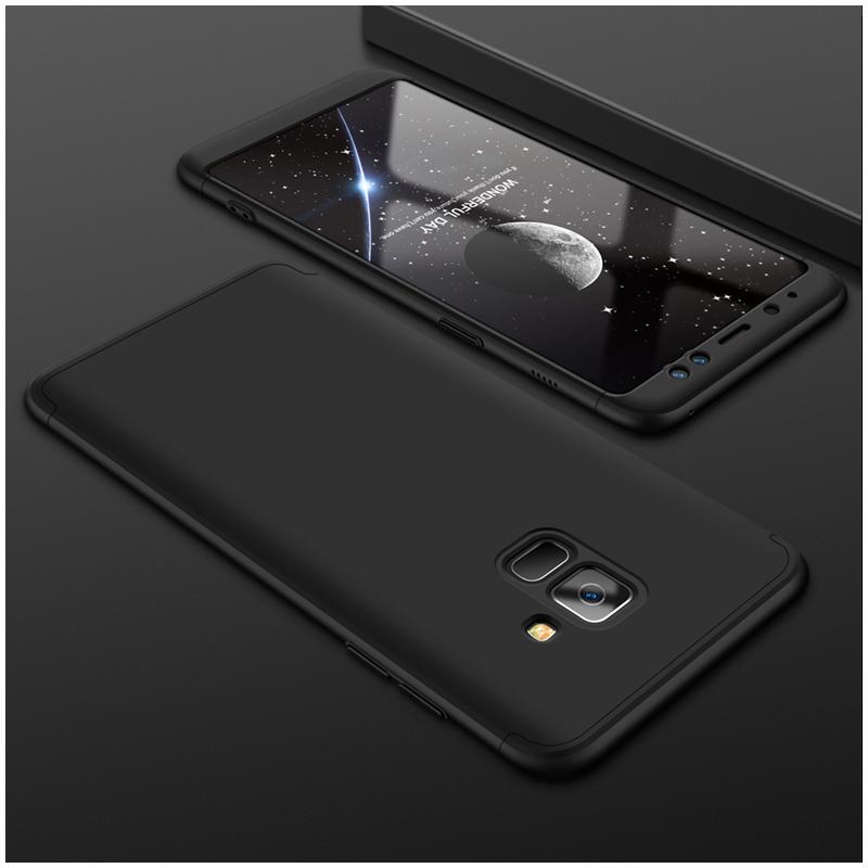 Husa Samsung Galaxy A8 2018 A530 GKK 360 Full Cover Negru