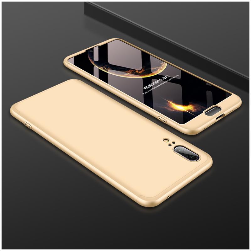 Husa Huawei P20 GKK 360 Full Cover Auriu