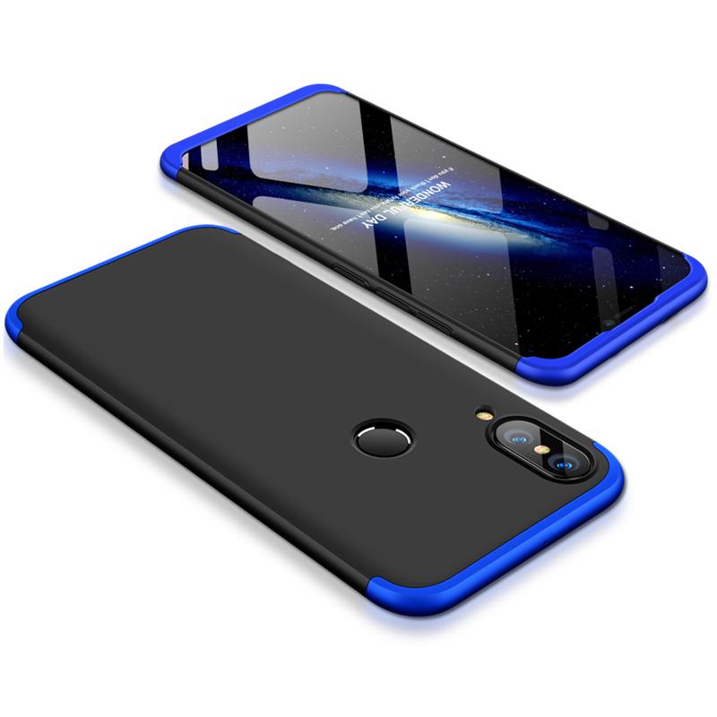 Husa Huawei P20 Lite GKK 360 Full Cover Negru-Albastru