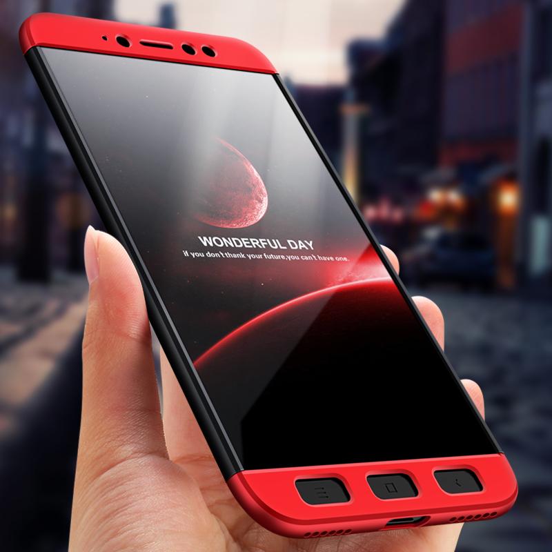 Husa Xiaomi Redmi Note 5A GKK 360 Full Cover Negru-Rosu