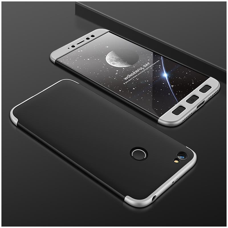 Husa Xiaomi Redmi Note 5A GKK 360 Full Cover Negru-Argintiu