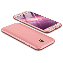 Husa Samsung Galaxy J5 2017 J530, Galaxy J5 Pro 2017 GKK 360 Full Cover Rose Gold