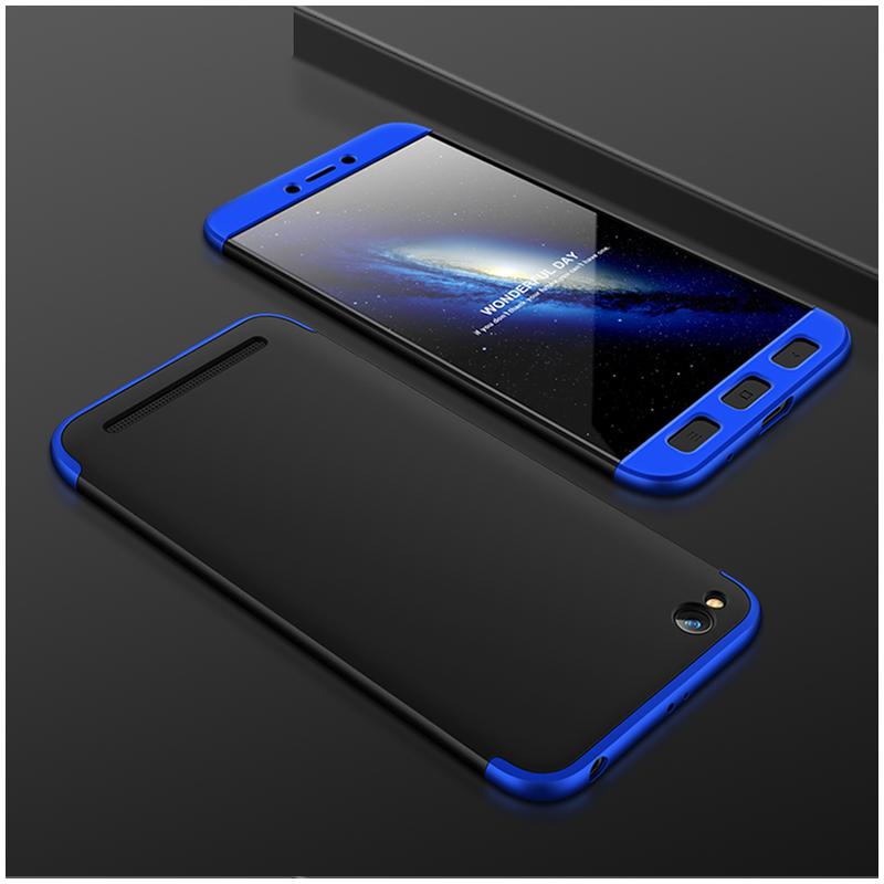 Husa Xiaomi Redmi 5A GKK 360 Full Cover Negru-Albastru