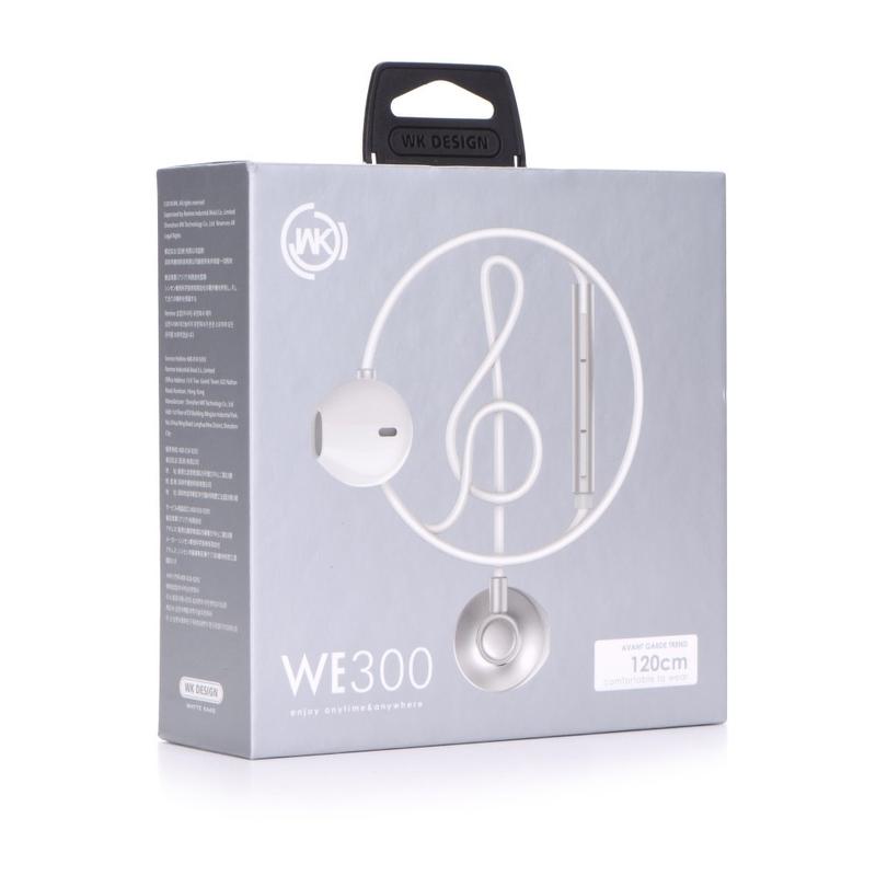 Casti In-Ear Cu Microfon WK-Design WE300 - Alb