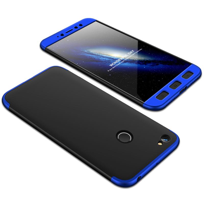 Husa Xiaomi Redmi Note 5A GKK 360 Full Cover Negru-Albastru