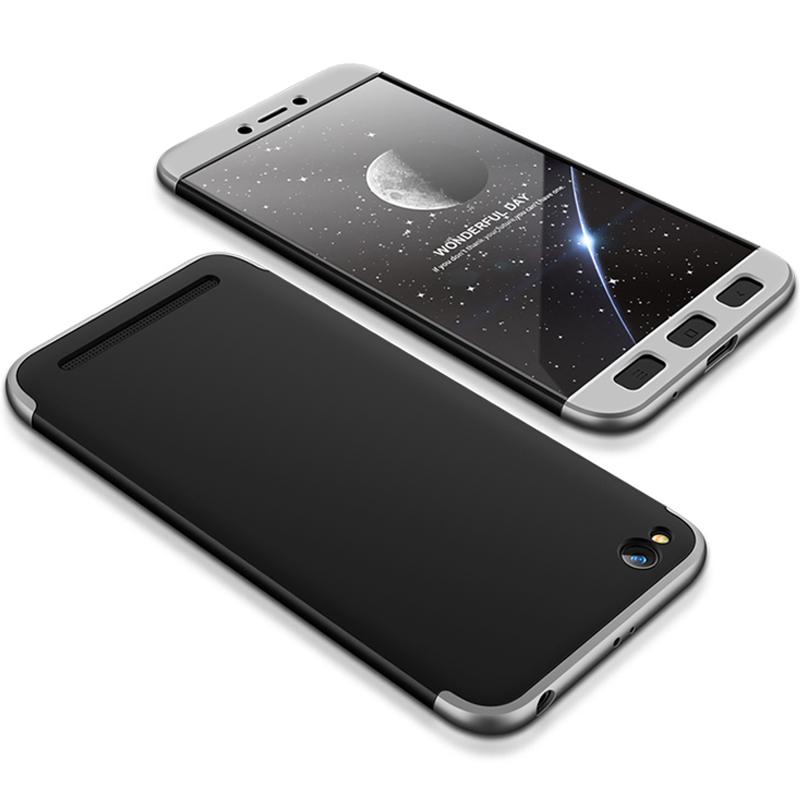 Husa Xiaomi Redmi 5A GKK 360 Full Cover Negru-Argintiu