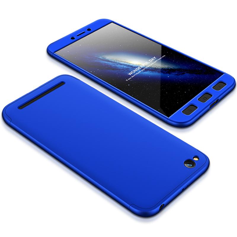 Husa Xiaomi Redmi 5A GKK 360 Full Cover Albastru