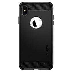 Husa Spigen Iphone XS Max Rugged Armor - Matte Black