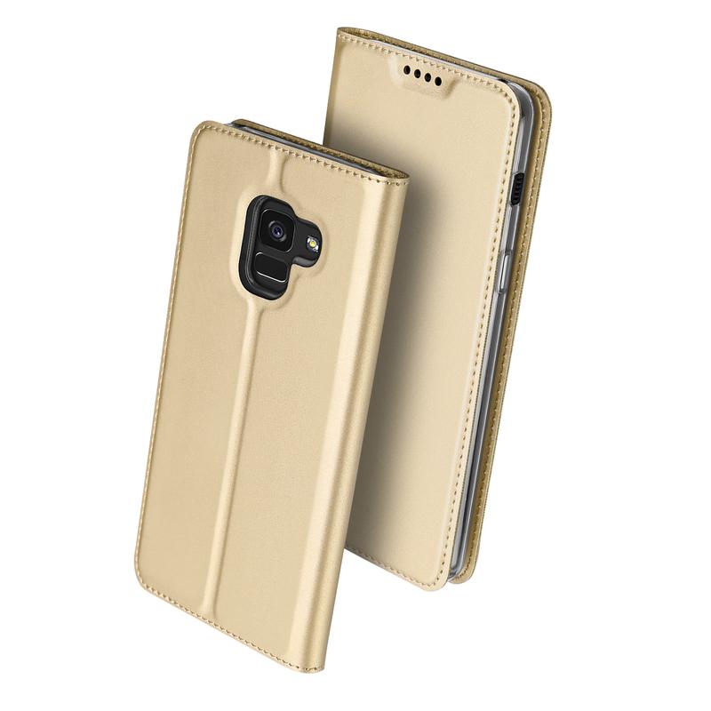 Husa Samsung Galaxy A8 2018 A530 Dux Ducis Flip Stand Book - Auriu