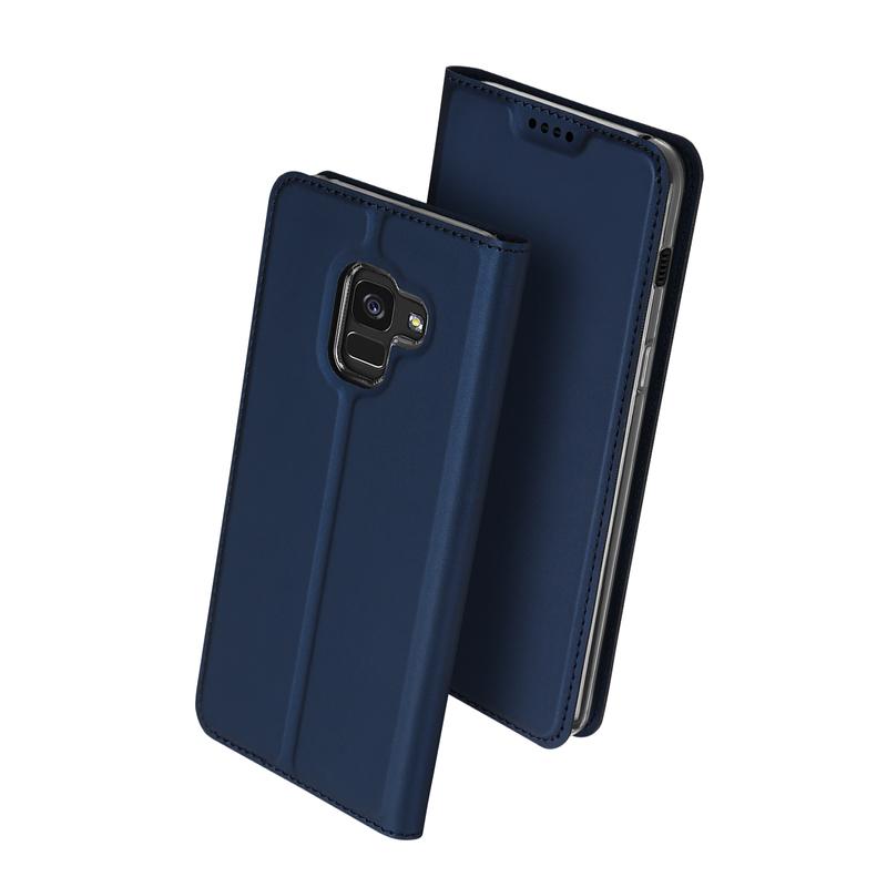 Husa Samsung Galaxy A8 2018 A530 Dux Ducis Flip Stand Book - Albastru