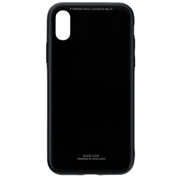 Husa iPhone XS Glass Series - Negru