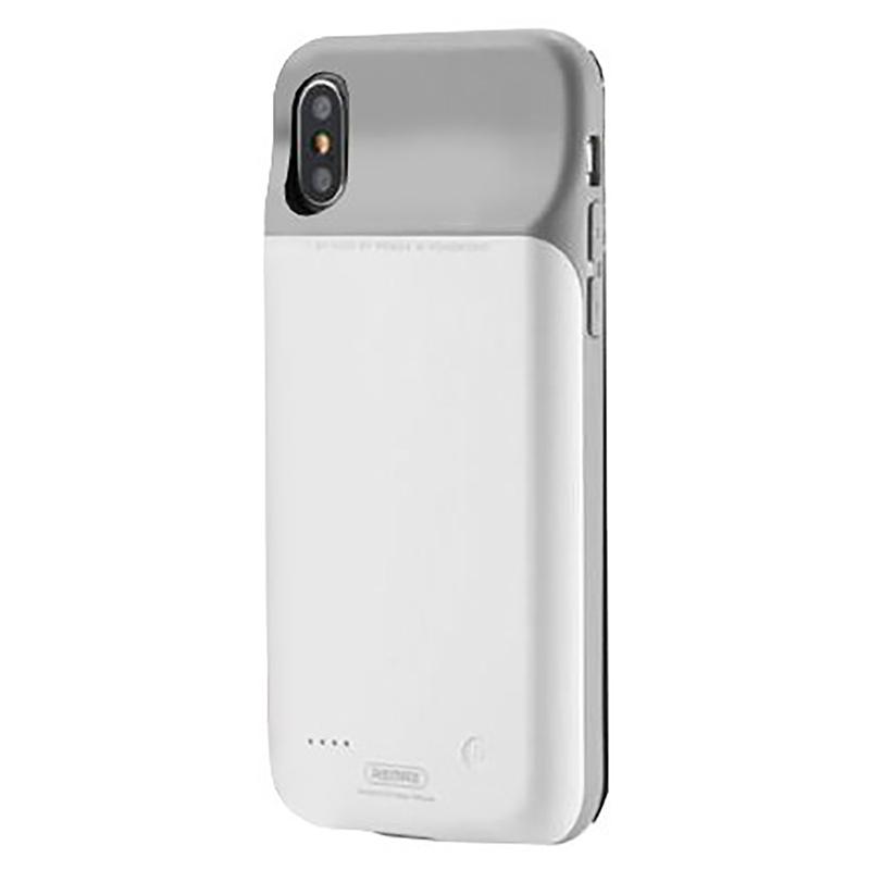 Bumper Remax iPhone XS Penen 3200 mAh - Alb
