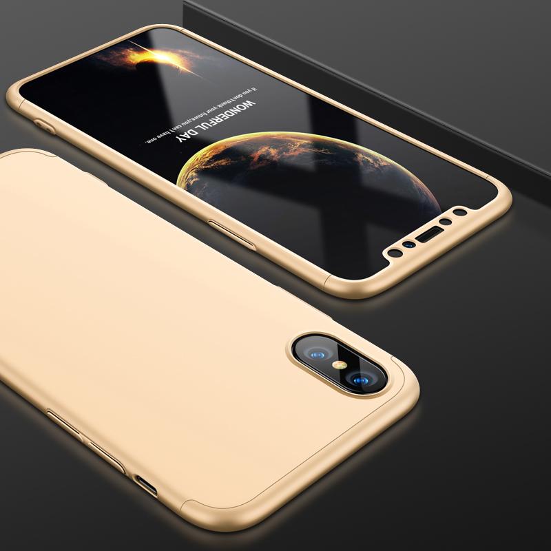 Husa iPhone XS GKK 360 Full Cover Auriu