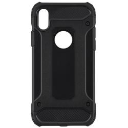 Husa iPhone XS Hybrid Armor Cu Decupaj Pentru Sigla - Negru