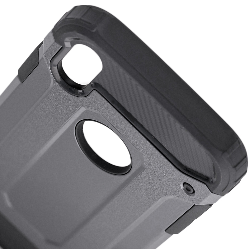Husa iPhone XS Mobster Hybrid Armor - Gri