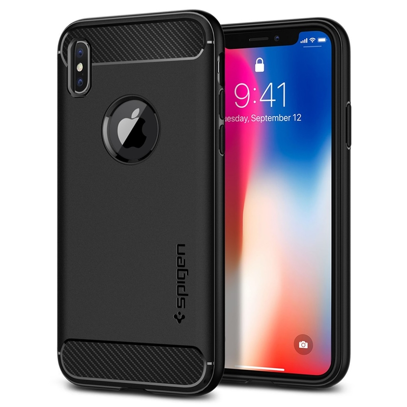 Bumper Spigen Apple iPhone XS Rugged Armor - Black