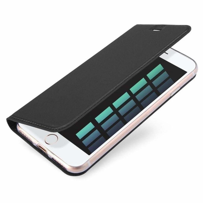 Husa iPhone 7 Dux Ducis Flip Stand Book - Negru