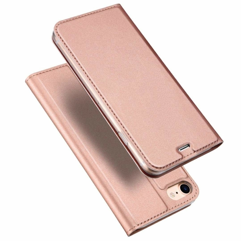 Husa iPhone 7 Dux Ducis Flip Stand Book - Roz
