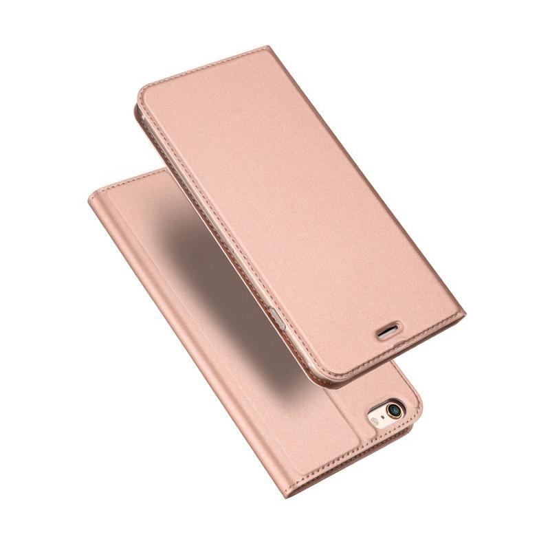 Husa iPhone 6 / 6S Dux Ducis Flip Stand Book - Roz