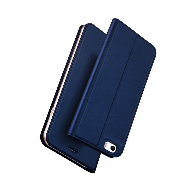 Husa iPhone 5 / 5s / SE Dux Ducis Flip Stand Book - Albastru