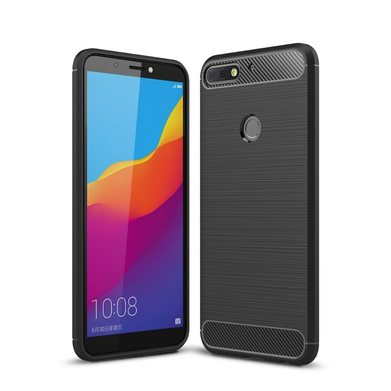 Husa Huawei Y7 Prime 2018 TPU Carbon Negru