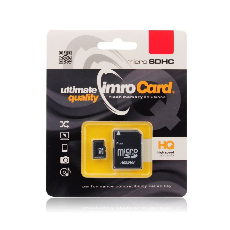 Card de memorie Imro Micro SD 4 GB + Adaptor SD