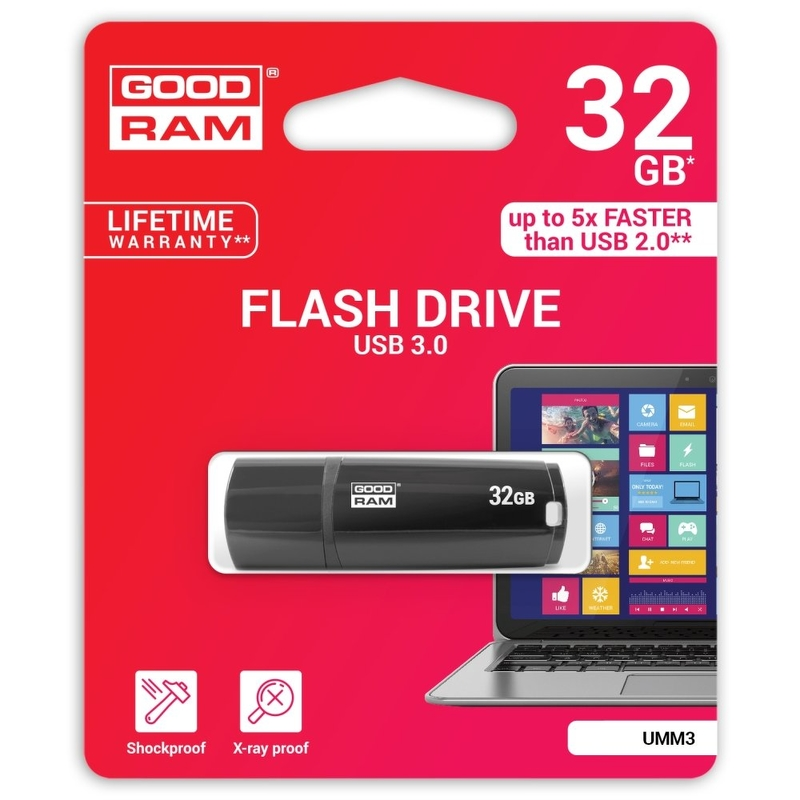 Stick USB 3.0 GOODRAM UMM3 32 GB - Black