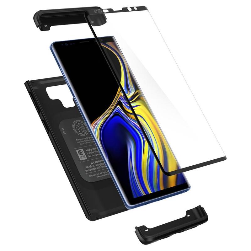 [PACHET 360°] Husa + Sticla Samsung Galaxy Note 9 Thin Fit SPIGEN - Negru