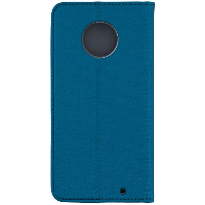 Husa Smart Book Motorola Moto G6 Plus Flip Albastru