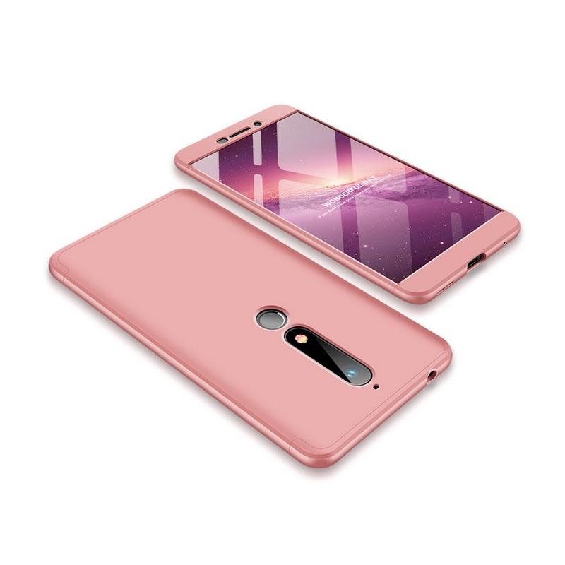 Husa Nokia 6 (2018) GKK 360 Full Cover Roz