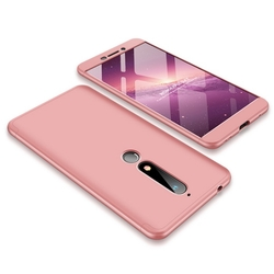 Husa Nokia 6.1 2018 GKK 360 Full Cover Roz