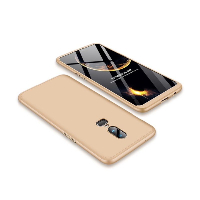 Husa OnePlus 6 GKK 360 Full Cover Auriu