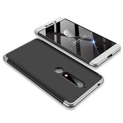 Husa Nokia 6.1 2018 GKK 360 Full Cover Negru-Argintiu