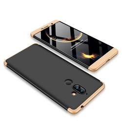 Husa Nokia 7 Plus GKK 360 Full Cover Negru-Auriu