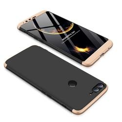 Husa OnePlus 5T GKK 360 Full Cover Negru-Auriu