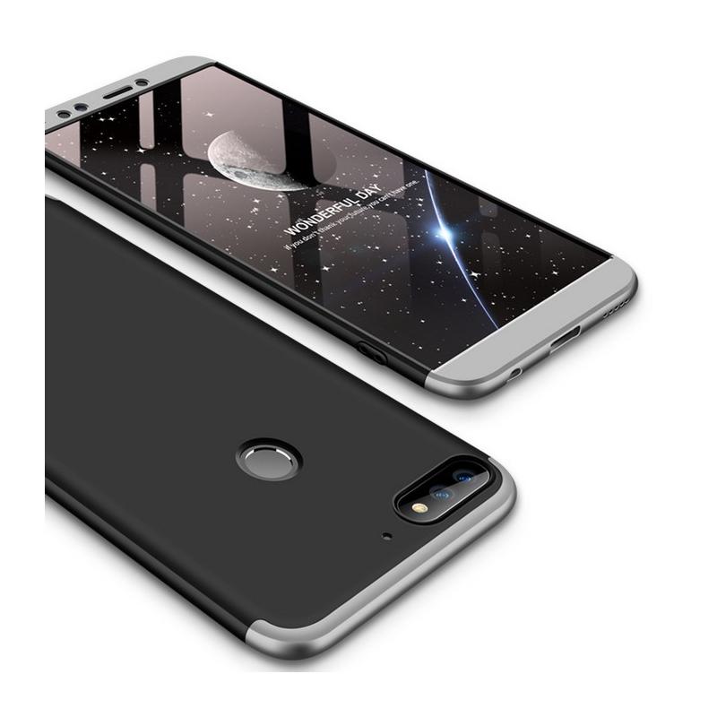 Husa Huawei Y7 Prime 2018 GKK 360 Full Cover Negru-Argintiu
