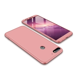 Husa Huawei Y7 Prime 2018 GKK 360 Full Cover Roz