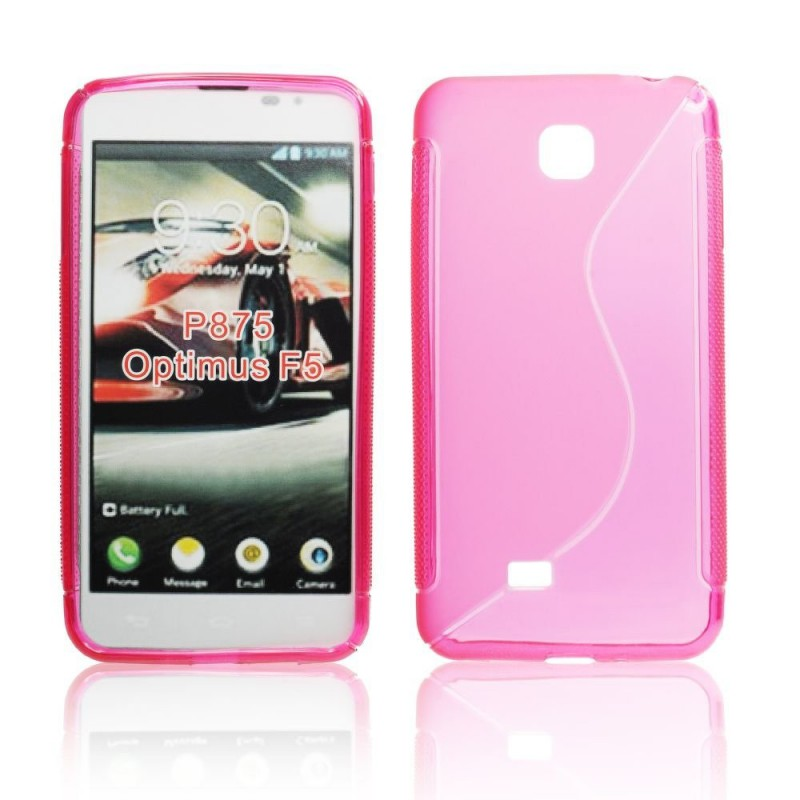 Husa LG Optimus F5 P875 Silicon Gel TPU Roz